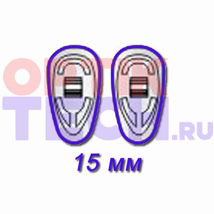 Носоупоры силиконовые на винтах (каплевидные), 15 мм, 10 пар