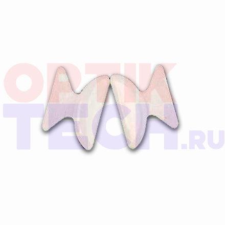 Накладки на пластиковую оправу силиконовые, прозрачные 1,8 мм (5 пар)
