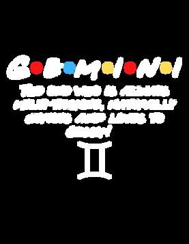 Gemini Zodiac Friends themed design