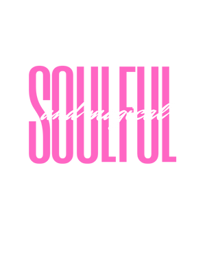 Soulful and Magical HOT PINK - Click image to see on ALL products & colour choices