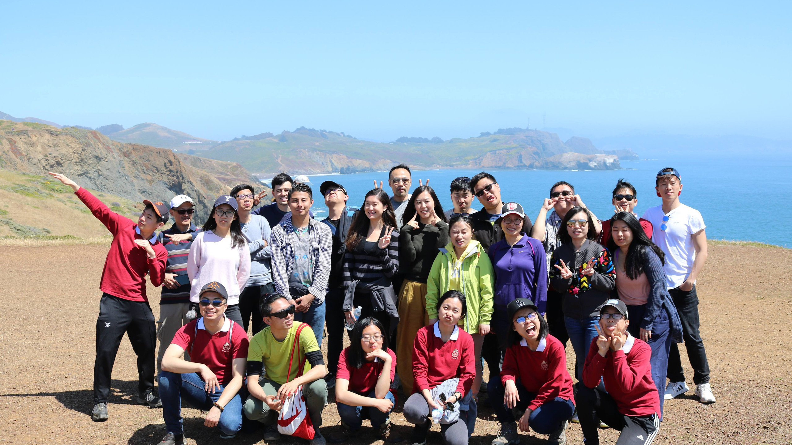 Group picture on Coastal Trail