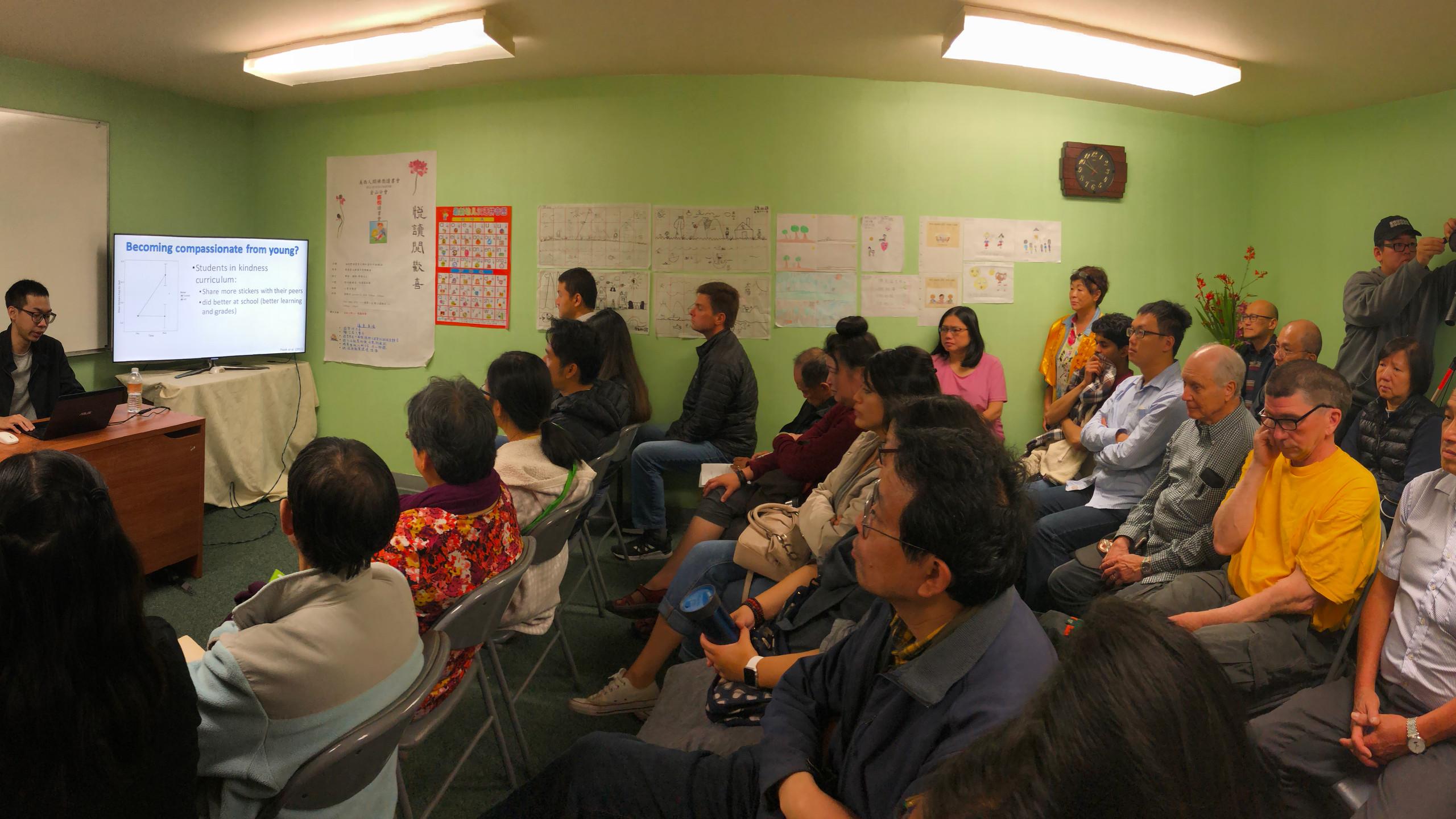 Winson Yang giving the talk