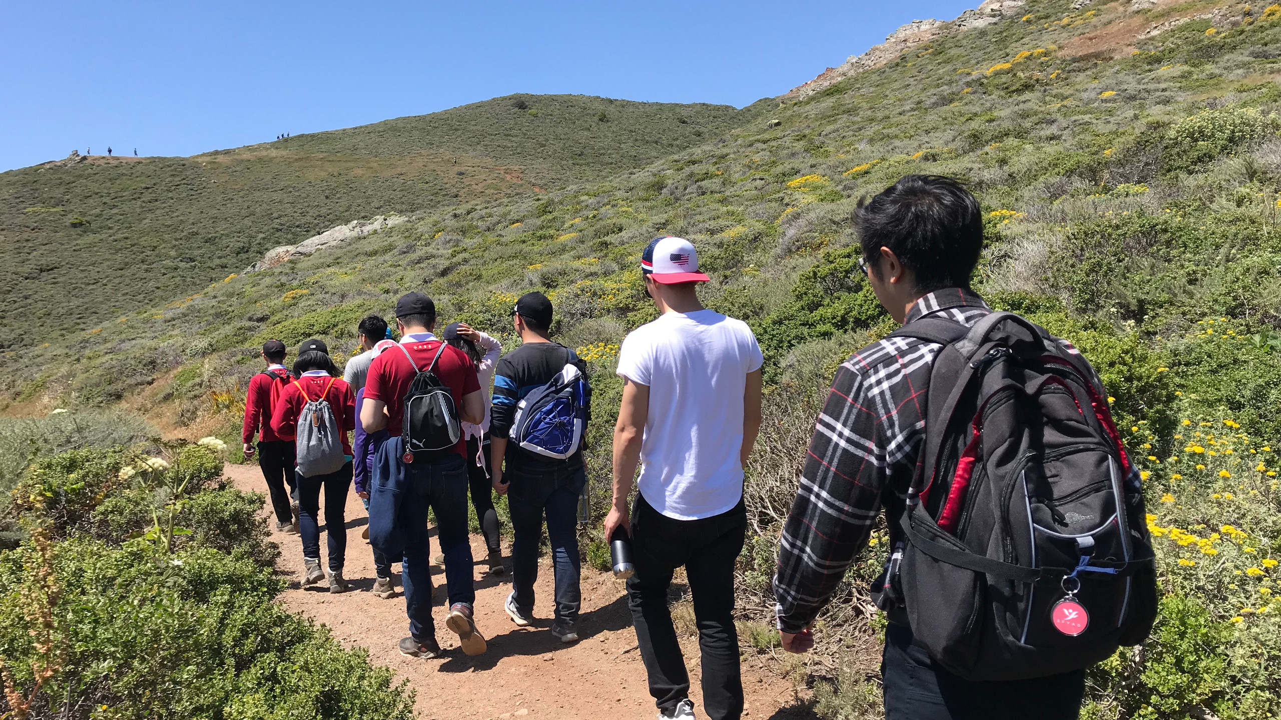 Hiking along Coastal Trail