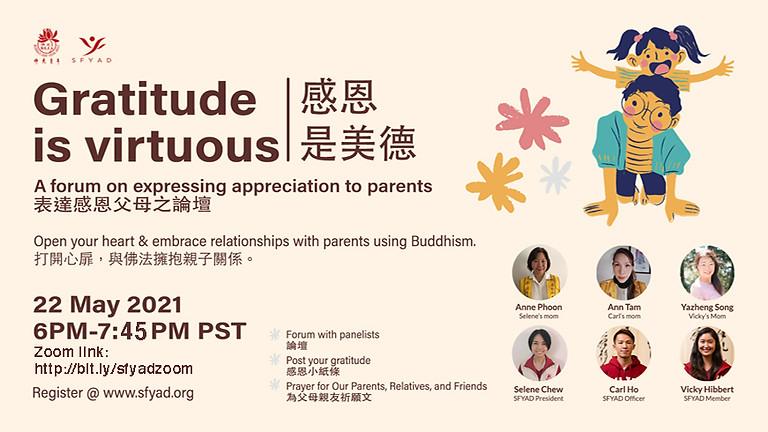 Gratitude for Parents