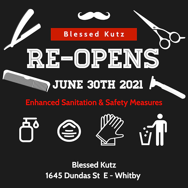 Copy of Barber Shop Re-Opens Template -