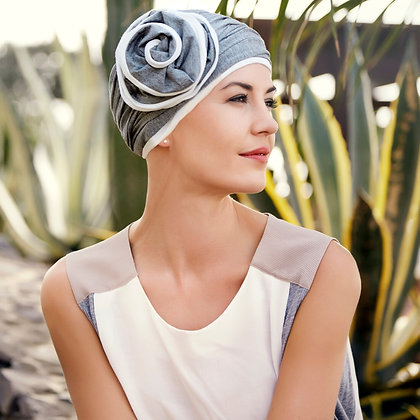 Karuna Turban with Detachable Flower by Christine Headwear
