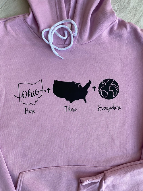 """Here-There-Everywhere"" Unisex Up2Him Sweatshirts"
