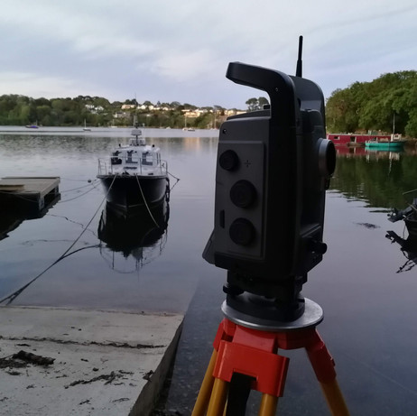 Peaceful waterfront survey