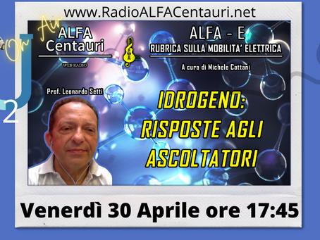 ALFA-E : Risposte alla puntata sull'idrogeno