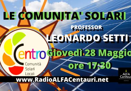 Le Comunità Solari e le relazioni del Covid19 con il particolato atmosferico - Prof. LEONARDO SETTI
