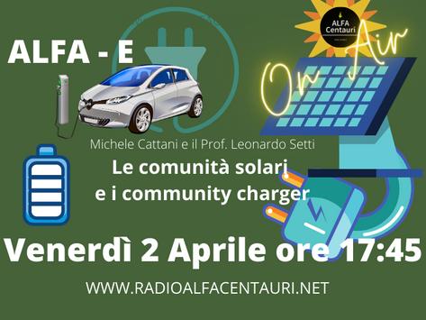 ALFA - E: Solare, ricarica la comunità.