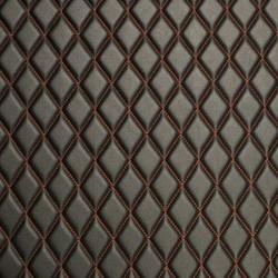 Quilt Basic Diamond Red on Black