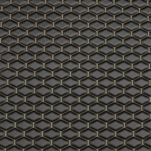 Quilt Long Hex Tan on  Black