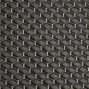 Quilt Long Hex Silver on  Black