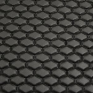 Quilt Long Hex Black on Black