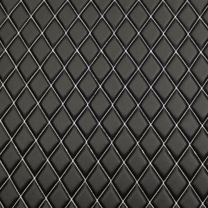 Quilt Basic Diamond silver on Balck