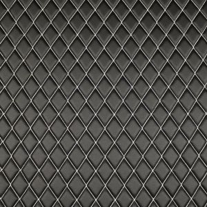 Quilt Basic Diamond White on Black