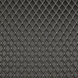Quilt Basic Diamond White on Black