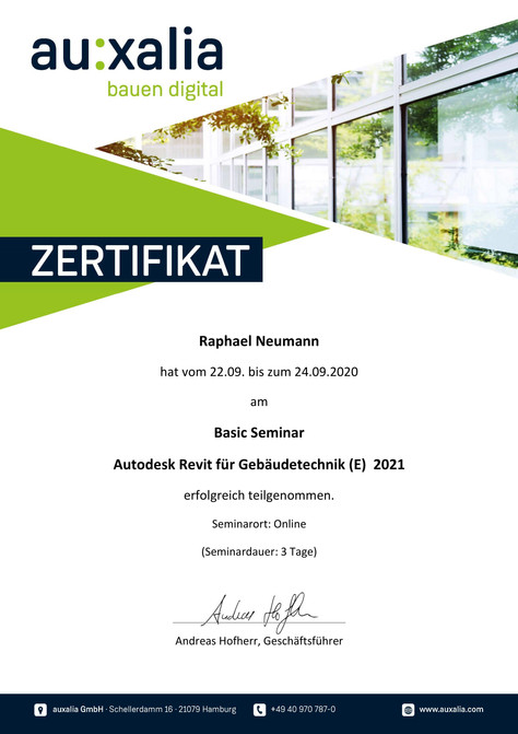 Autodesk Revit Zertifikat