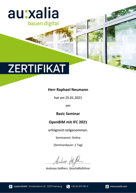 Zertifikat OpenBIM