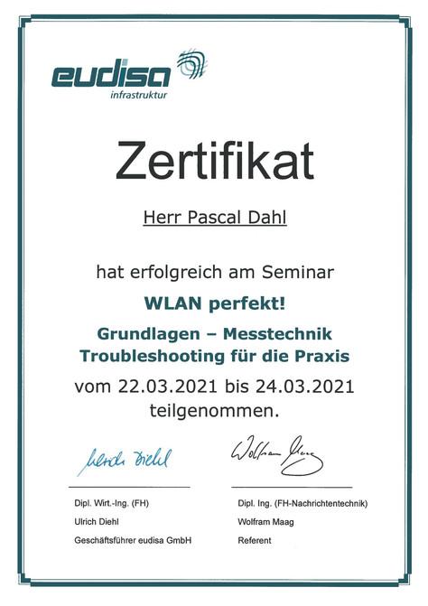 WLAN Zertifikat Dahl