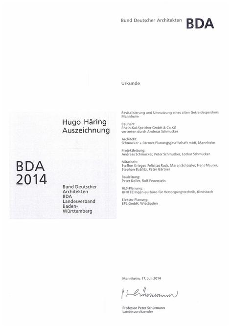 BDA_Auszeichnung Getreidespeicher Mannheim