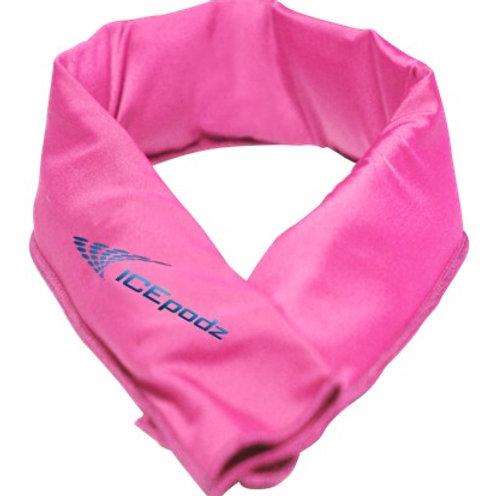 Pink w blue logo
