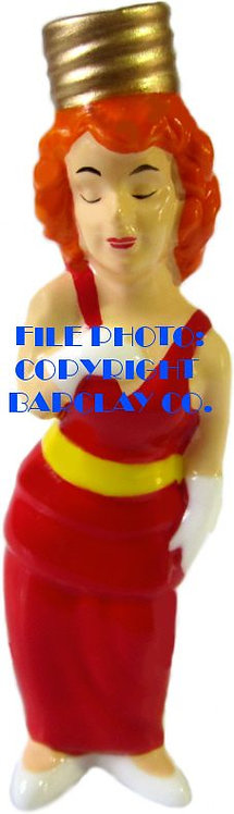 """#BC-033 - Bringing Up Father """"Milk Glass"""" Bulb Cover - Nora"""