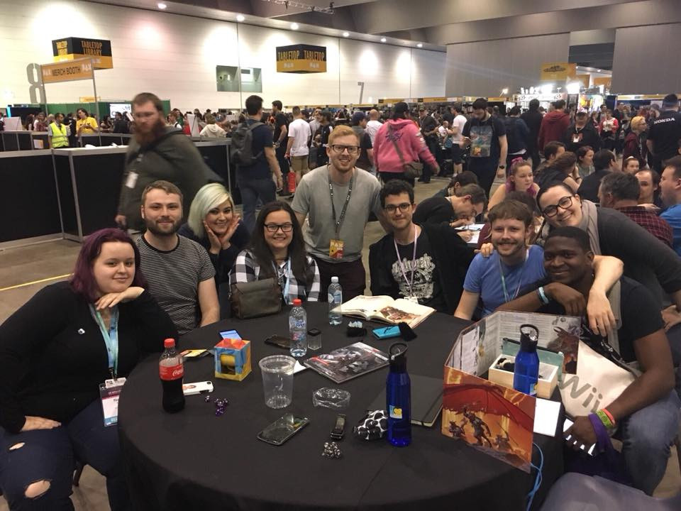 Relaxing with some D&D on the second last day at PAX, with me running a game for my fellow scholars!