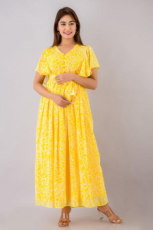 Yellow Tweety Maxi Dress
