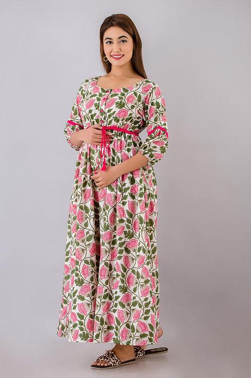 Mughal floral maxi dress