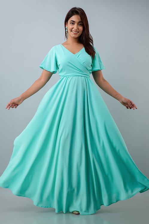 Mint Green Drape Dress