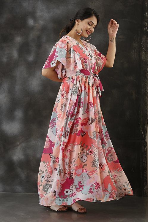 Pink flamingo Maxi dress