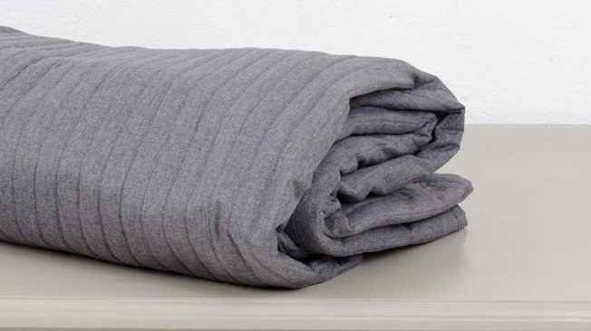 Grey Brown Cotton King Bed Cover