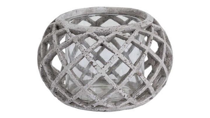 Stone Crosshaped Candle Lantern