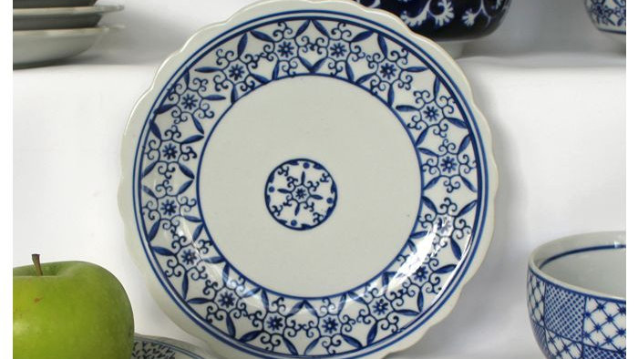 A Selection of 7 Varied Blue & White Ceramic Side Plates