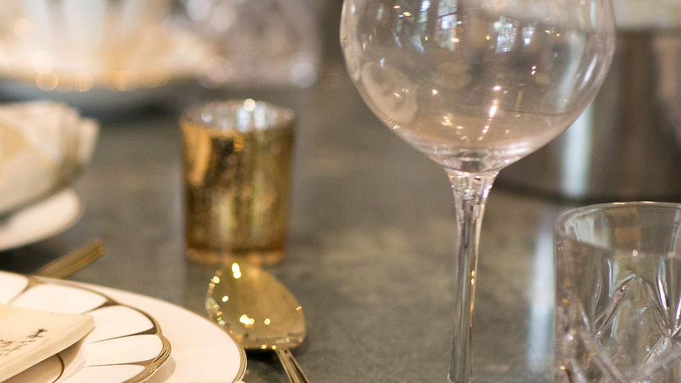 Harlow & Grey - Gold Rimmed Wine Glasses
