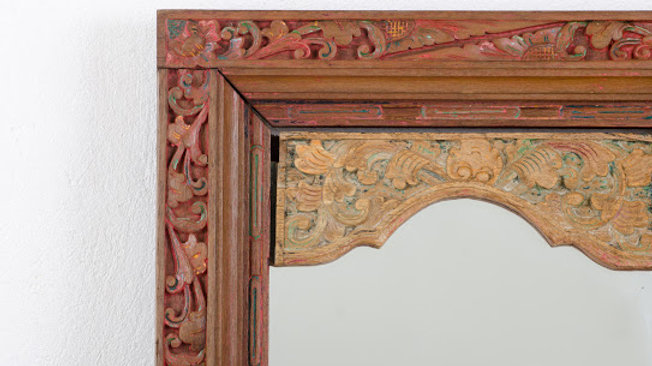 Carved Wooden Balinese Mirror
