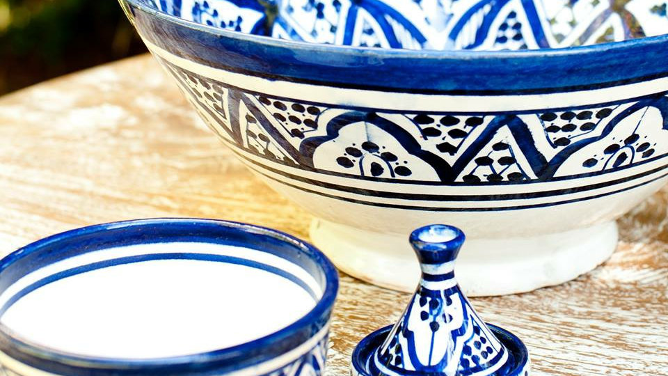 Moroccan Hand-painted Bowl