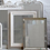 Thumbnail: Two-Tone Wooden Mirror - Grey with White inside border left