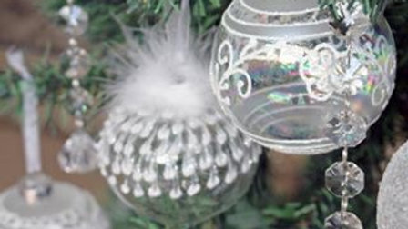 Silve Christmas Baubles