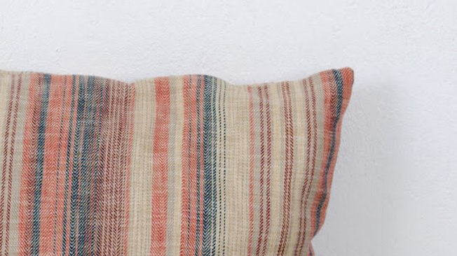 Striped Cushion - Reds & Browns