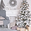 Thumbnail: Snowy White Artificial Pine Christmas Tree