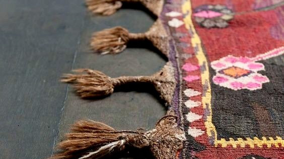 Afghani Knotted Red Runner