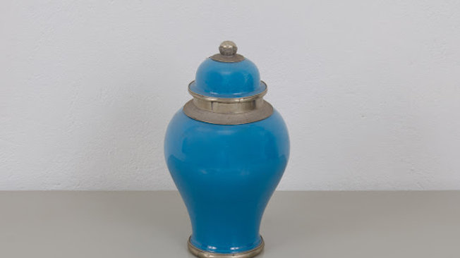 Turquoise Moroccan Urn