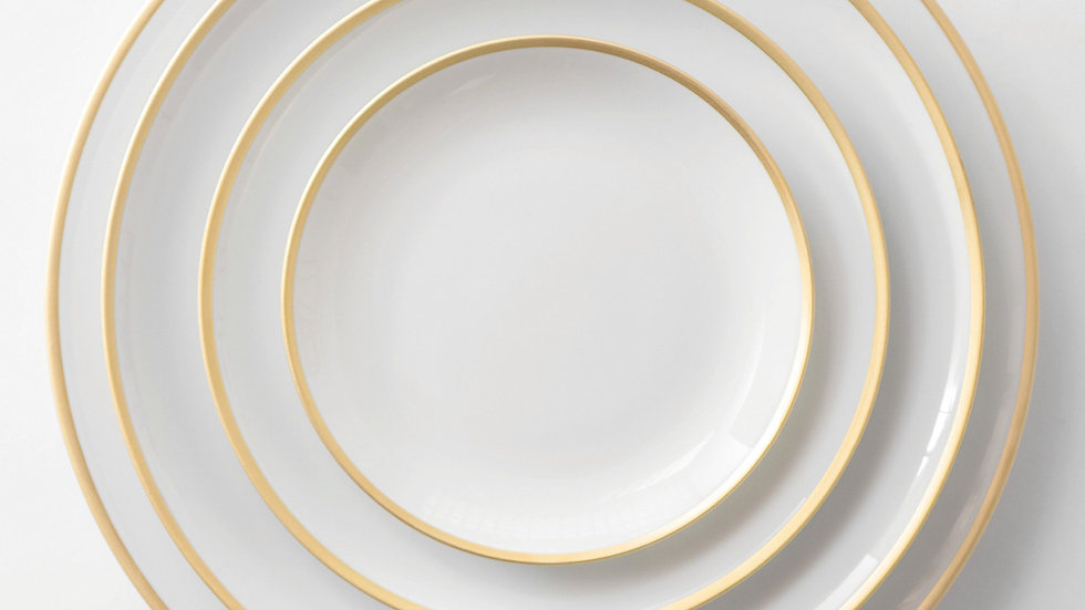Gold Rimmed China Dinner Set