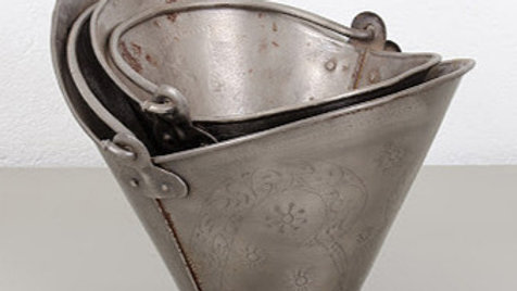 Antique Pewter Buckets
