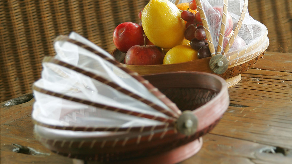 A Set of Threee Plain Balinese Fruit Baskets
