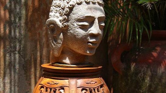 Carved Indian Bhudda Head