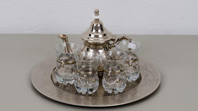 Moroccan Silverplate Tea Service